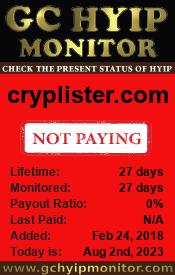 gchyipmonitor.com - hyip cryplister limited